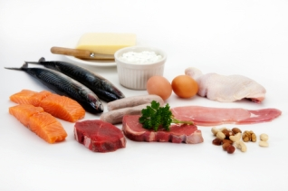 A selection of healthy foods rich in protein